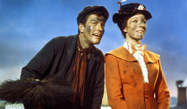 Dick Van Dyke and Julie Andrews in Mary Poppins