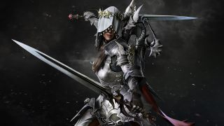 A hooded assassin with two swords