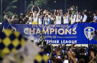 Leeds' promotion celebrations