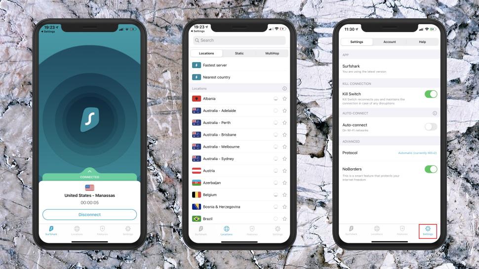 Surfhsark iOS App