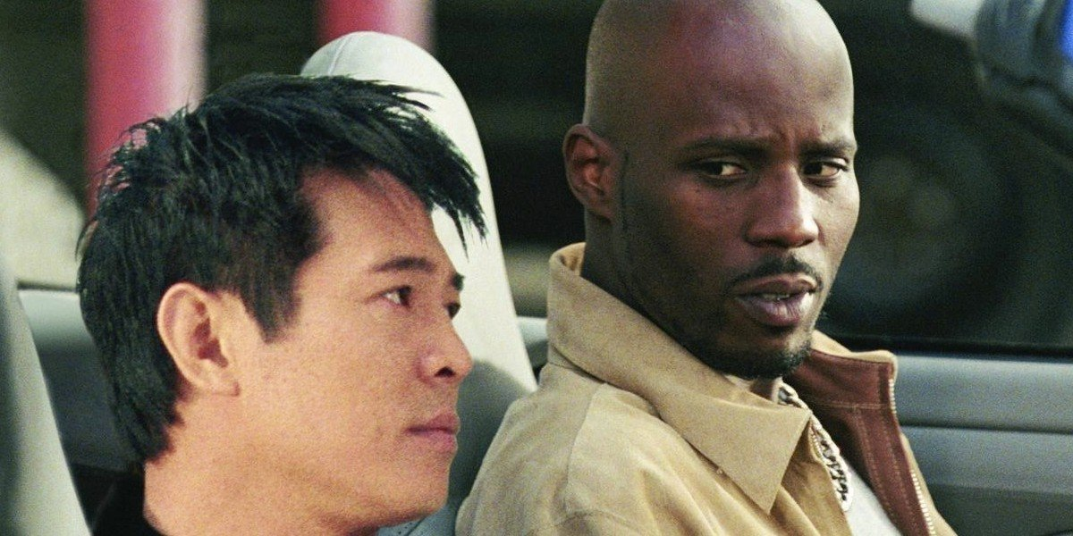 Jet Li up front, DMX to the right