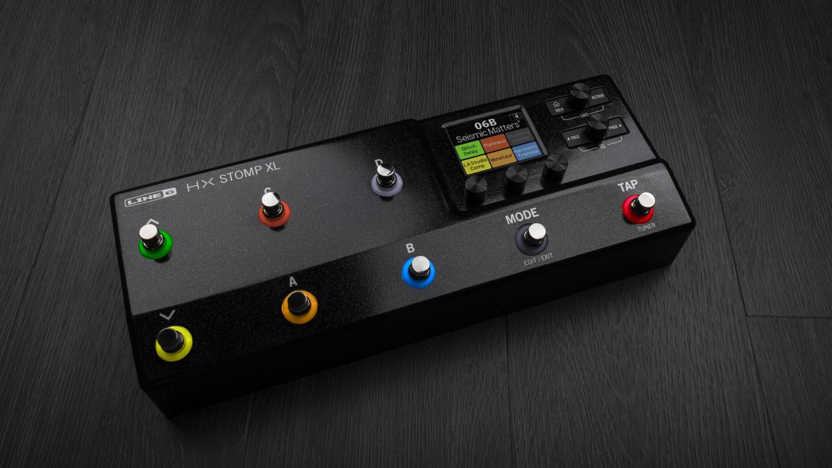 The Line 6 Helix Stomp XL pedal offers 8 footswitches for even more potential