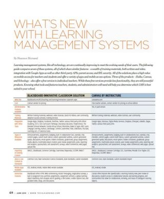 WHAT'S NEW WITH LEARNING MANAGEMENT SYSTEMS