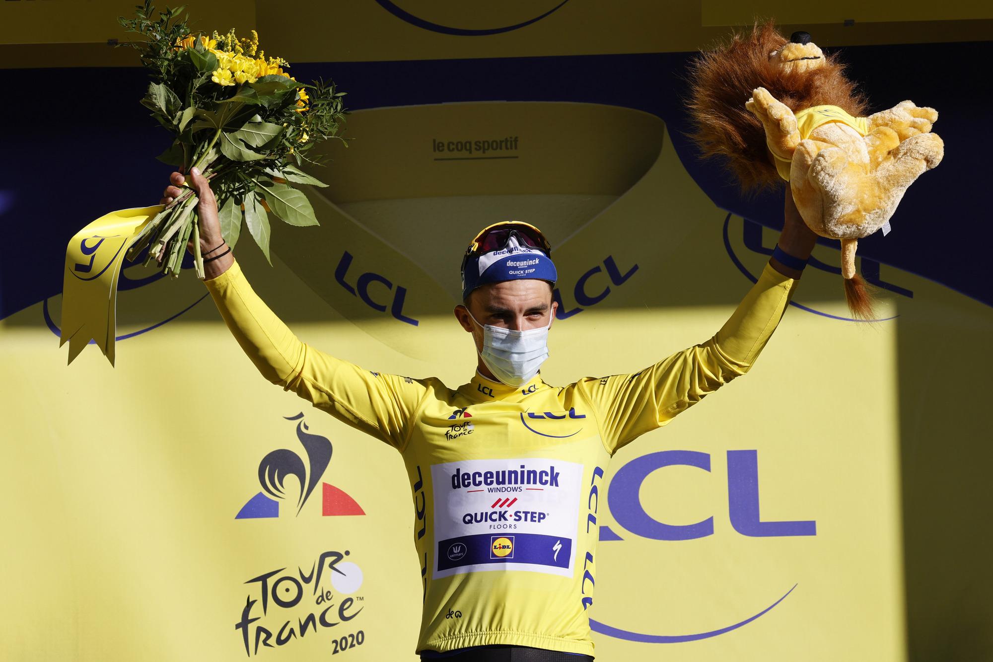 Tour de France 2020 107th Edition 4th stage Sisteron Orcieres Merlette 1605 km 01092020 Julian Alaphilippe FRA Deceuninck Quick Step photo POOL Yuzuru SunadaBettiniPhoto2020