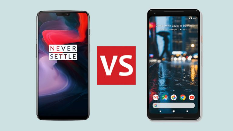 OnePlus 6 vs Google Pixel 2 XL: the contender vs the reigning