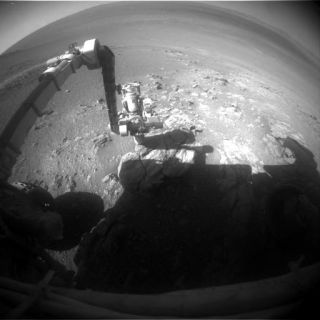 Opportunity rover hazcam Jan 25, 2018