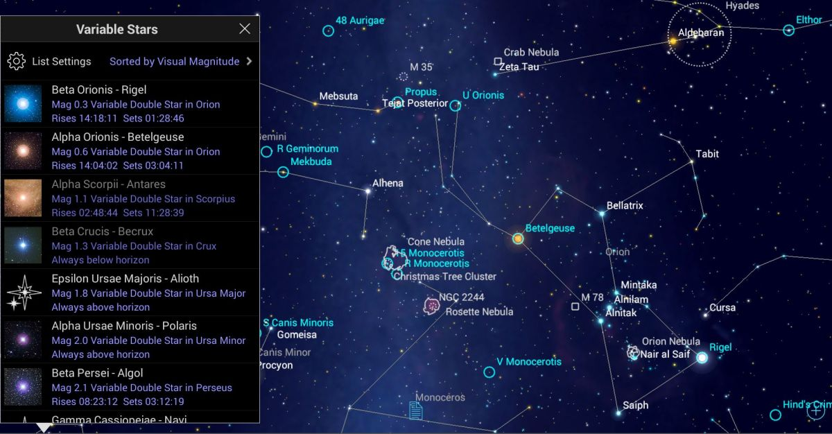 Mobile Astronomy: Watch the 'Demon Star' Change in Brightness in a