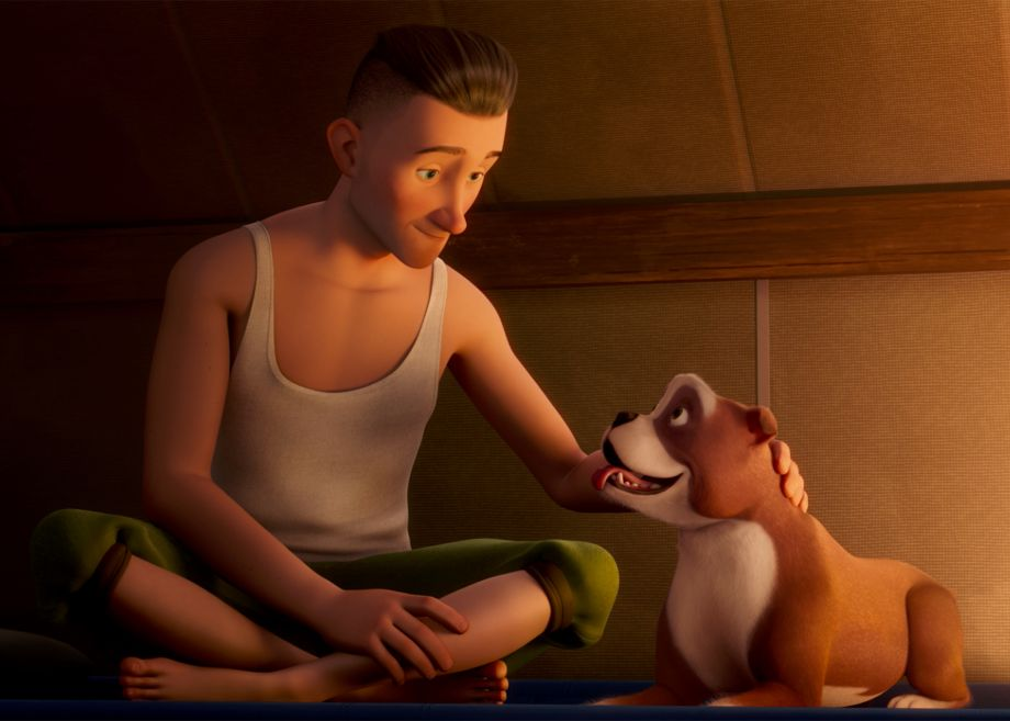 The soldier and his dog