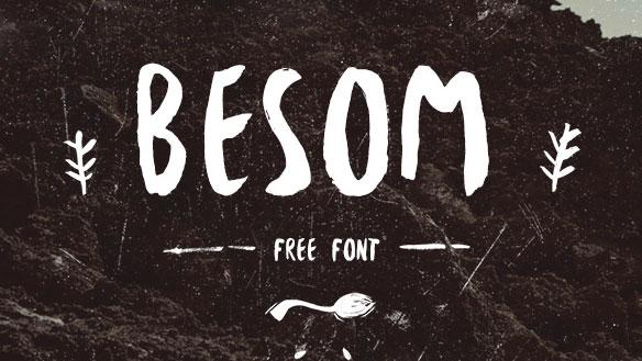 Besom brush font sample