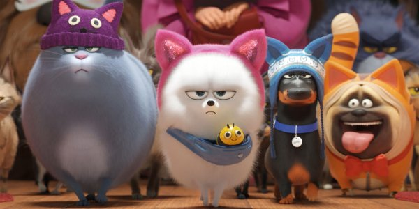 The Secret Life of Pets 2 Chloe, Gidget, and the crew walking confidently