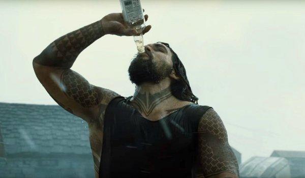 Aquaman drinking