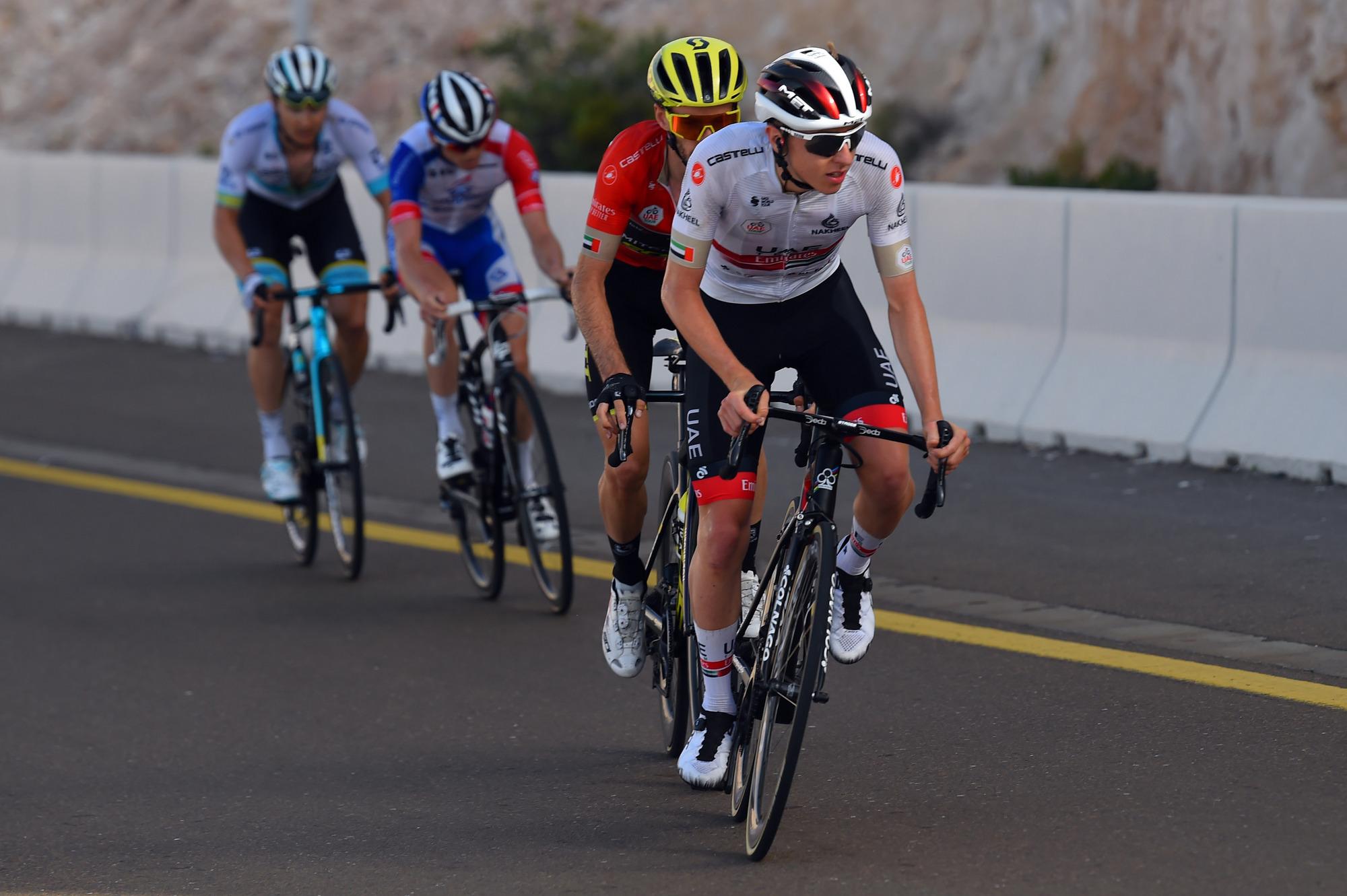 UAE Tour 2020 - 2nd Edition - 5th stage Al Ain - Jebel Hafeet 162 km - 27/02/2020 - Tadej Pogacar (SLO - UAE - Team Emirates) - Adam Yates (GBR - Mitchelton - Scott) - photo Dario Belingheri/BettiniPhoto©2020