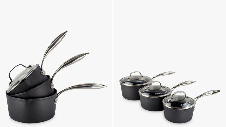 Eaziglide Neverstick3 Professional Non-Stick Lidded Saucepan Set