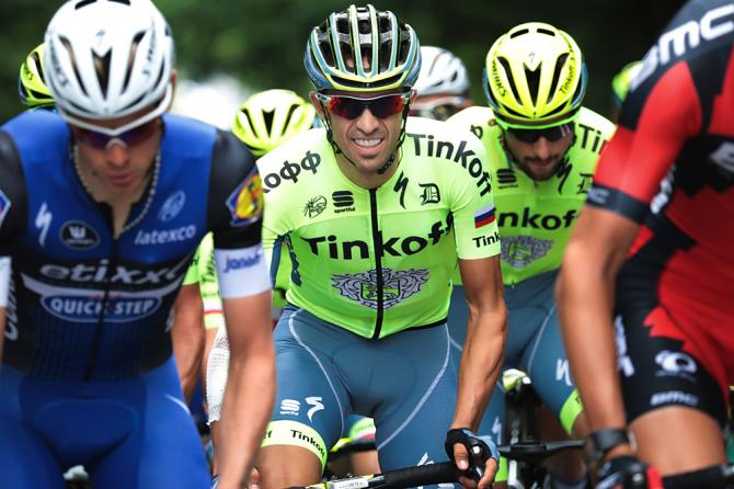 Alberto Contador (Tinkoff) at the start of stage 3