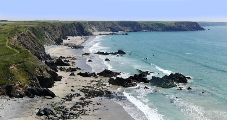 marloes pennisula and bay in the pembrokeshire coastal national park wales