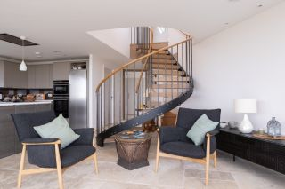 modern staircase ideas in living room