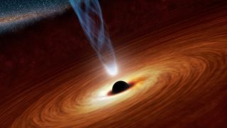 Artist's illustration of a supermassive black hole