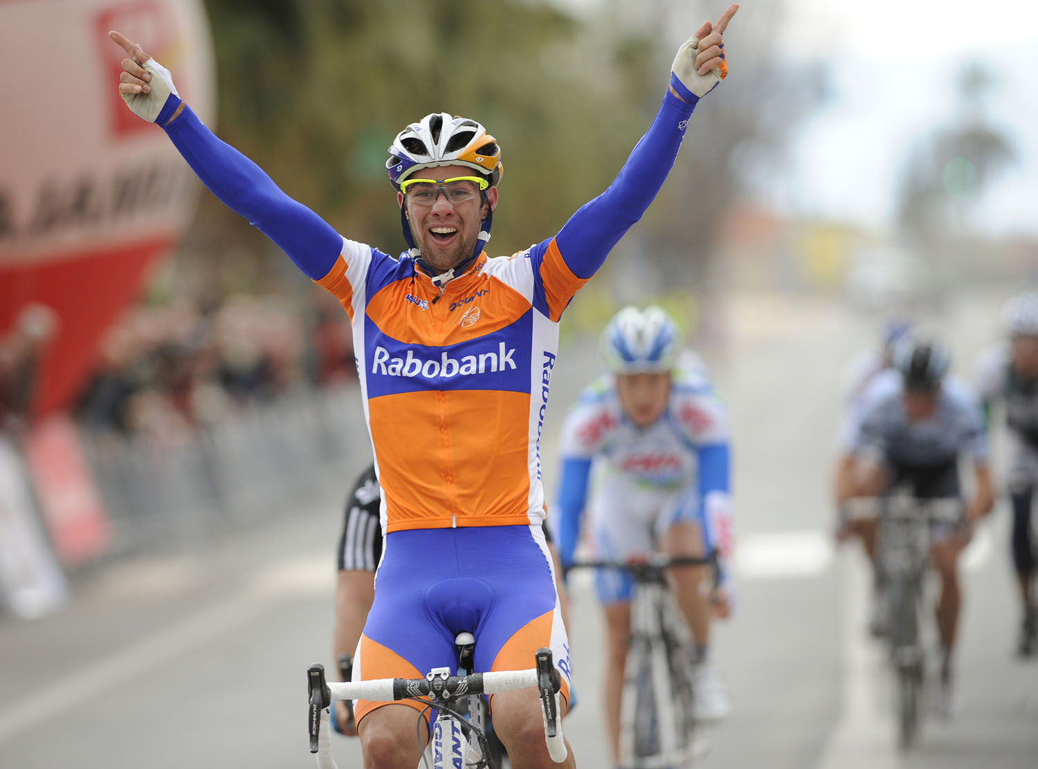 Michael Matthews wins, Tour of Murcia 2011 stage one