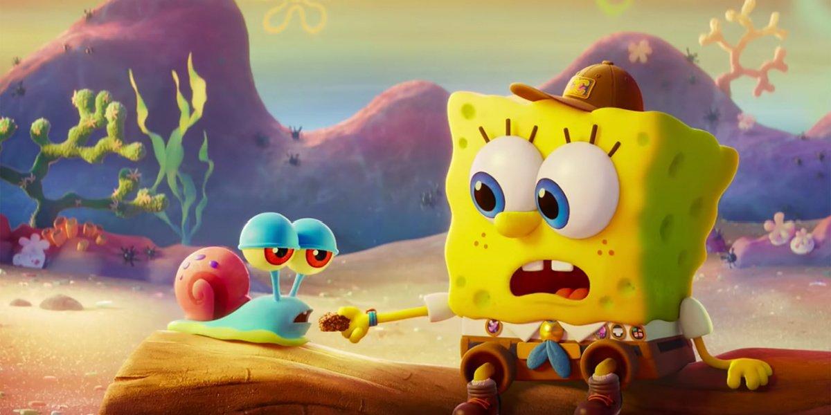 Spongebob and Gary in The Spongebob Movie: Sponge on the Run.