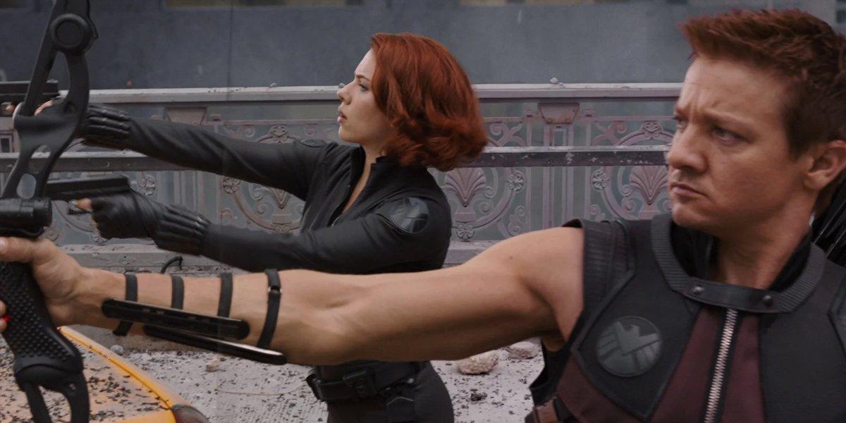 Black Widow and Hawkeye in Avengers