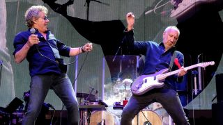 A picture of The Who in concert earlier this year