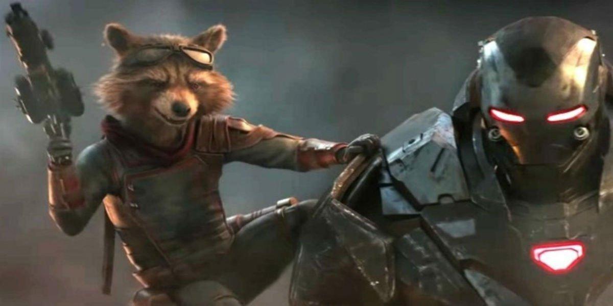 War Machine and Rocket Raccoon in Avengers: Endgame