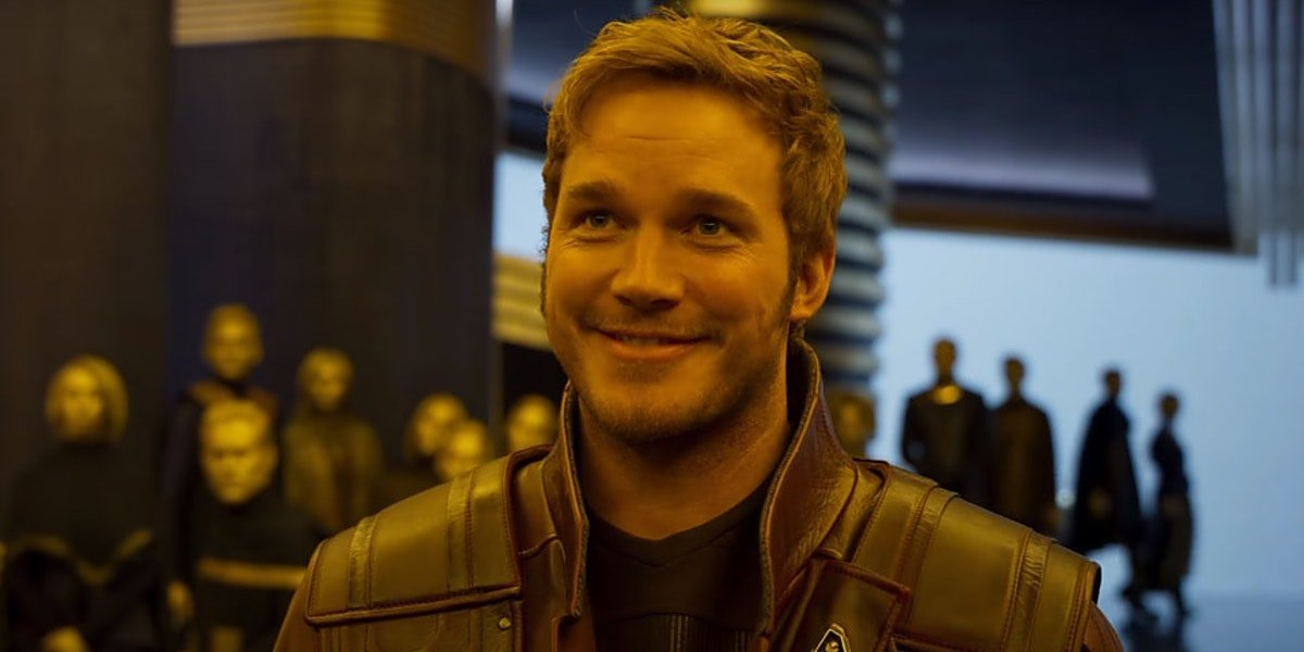 Chris Pratt as Peter Quill in Guardians of the Galaxy Vol 2