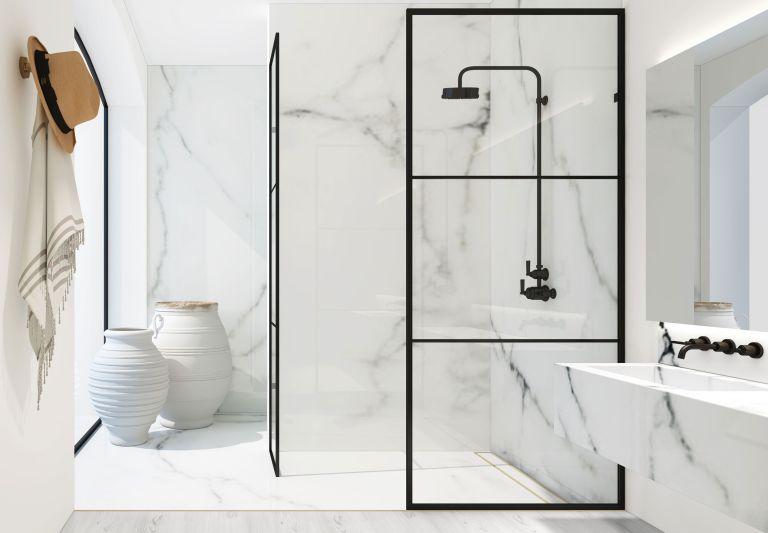 Shower design for a small bathroom