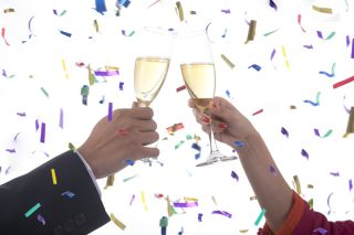 new year's resolution, new year's toast. champagne toast, health