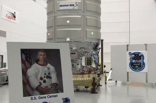 Orbital ATK has named its next space station-bound Cygnus cargo ship the S.S. Gene Cernan after the late moonwalker.