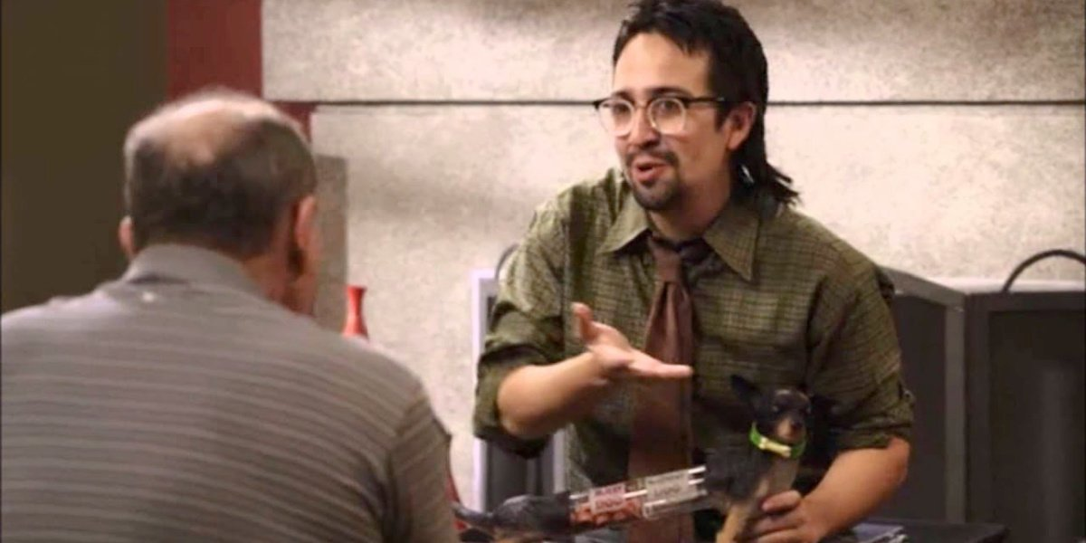 Lin-Manuel Miranda as Guillermo in his episode of Modern Family.