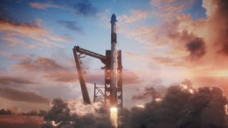 SpaceX's Crew Dragon art
