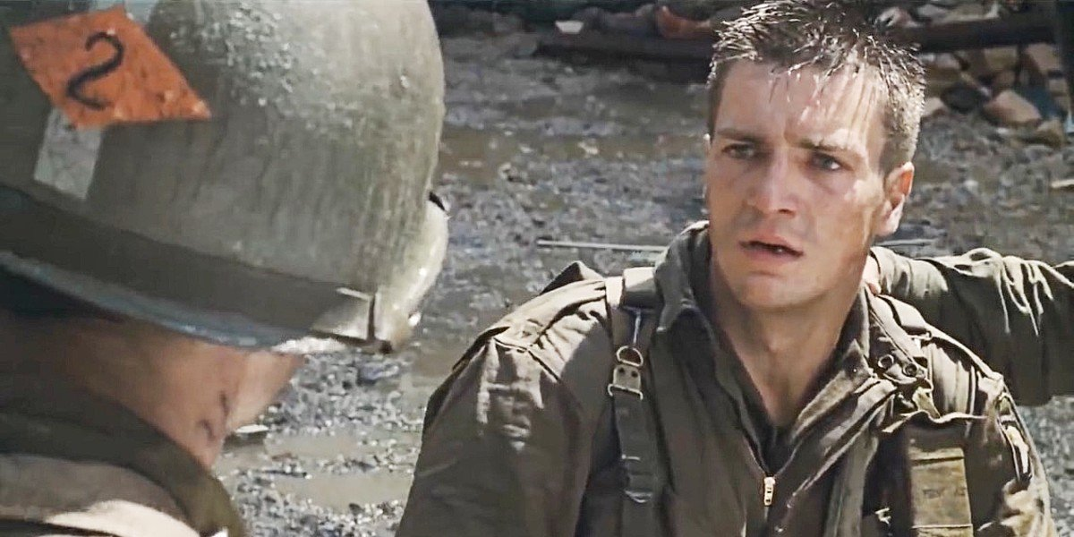 Nathan Fillion in Saving Private Ryan