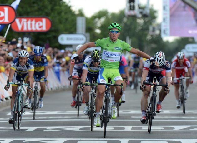Peter Sagan wins, Tour de France 2012, stage six