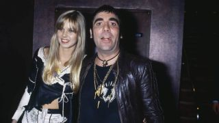 Keith Moon with girlfriend Annette Walter-Lax, photographed on the night he died