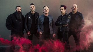 Stone Sour with Johny Chow, far left