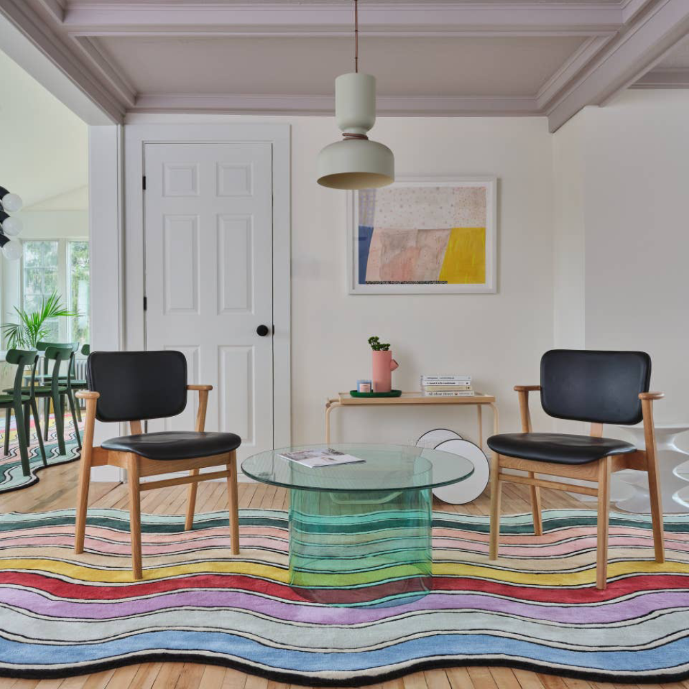 You can shop the colourful interior of this luxury US Airbnb