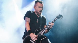 Guitarist Billy Duffy from the band The Cult performs onstage at La Riviera on August 21, 2019 in Madrid, Spain