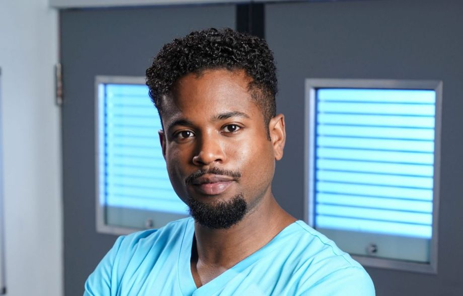 Marcus Griffiths plays Xavier Duval in Holby City