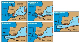 Iberia subduction zone