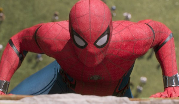 Spider-Man climbing up Washington Monument in Homecoming
