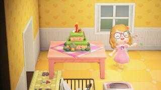 Animal Crossing: New Horizons anniversary cake