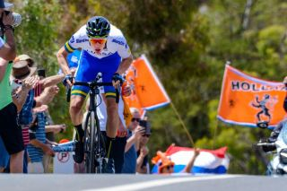 Jarrad Drizners in action at the 2020 Tour Down Under