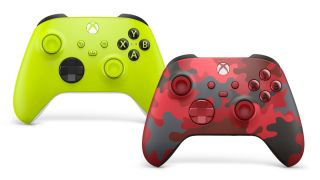 Xbox controllers Electric Volt and Daystrike Camo