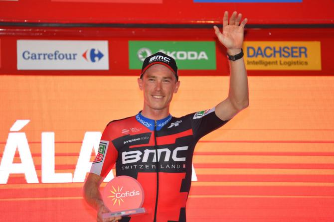 Dennis will wear the leader's red jersey, but also holds the points classification, mountains and combination classifications and BMC leads the teams standings, too. Quite a day for the team.