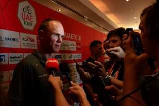 UAE Tour 2020 2nd Edition Top Riders Photo Shooting and Press Conference 22022020 Chris Froome GBR Team Ineos photo Dario BelingheriBettiniPhoto2020