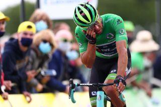 A dejected Michael Matthews (BikeExchange) after stage 2 of the Tour de France