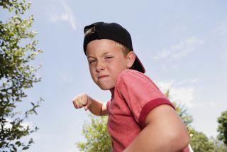 Aggressive bully child