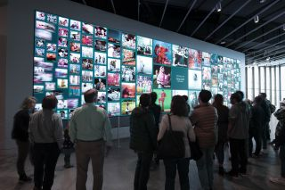The Statue of Liberty Museum was an expansive project that required the collaboration of ESI Design and Diversified. The museum's Becoming Liberty canvas is a sweeping panoramic view showcasing real-time data visualizations based on visitor participation at the Becoming Liberty kiosks.