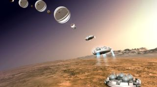 ExoMars Lander's Touchdown Sequence